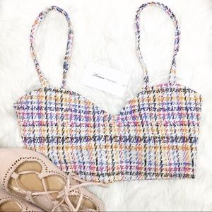 Lovers + Friends Crop Top  with Tie Back NWT